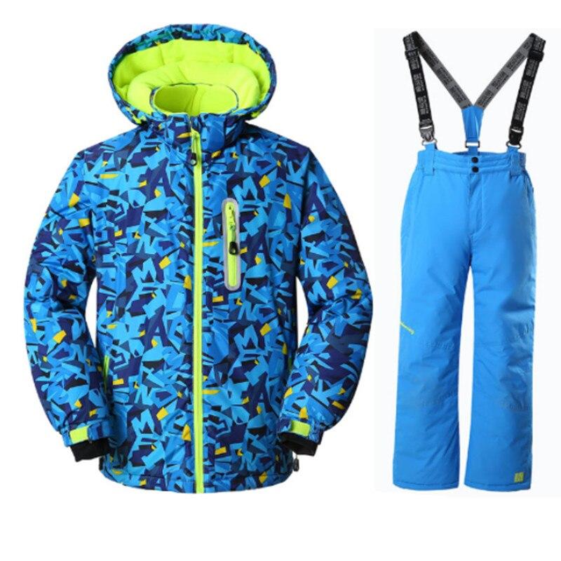-30 Grad Kinder Jungen Ski Anzug Ski Jacke Und Hose Outdoor Wasserdicht Atmungsaktiv Snowboarden Satz Kinder Snowbaord Jacke Hose