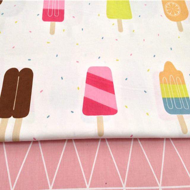 Pretty 50x40cm Colorful Icecream & Geometric Shapes Fabric Bundles ...