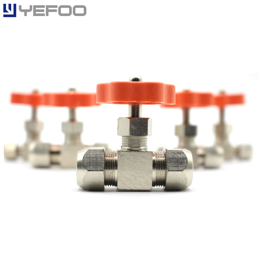 5 Pcs All Bronze High Quality Clamps Needle Valves Copper Tube Ball Valves Copper Plated Nickel Flow Regulators Valves 6/8/10/12 work medical sterile acupuncture needle disposable tube needle disinfection tube needle 500pcs