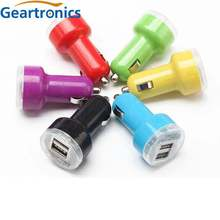 Car USB Charger Mobile Phone 2 Port Chargers for Samsung Xiaomi Tablet cellphone