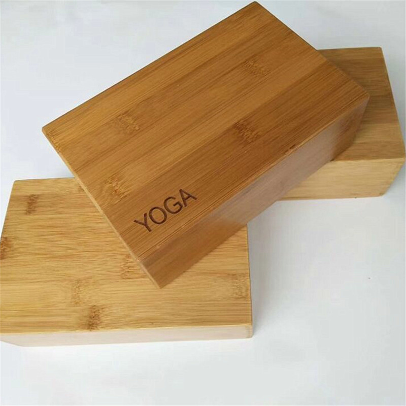 3*6*9inch Bamboo Solid Wood Yoga Block Foam Roller Gym Training Exercise Fitness Equipment Brick Yoga Trigger Massage Froller