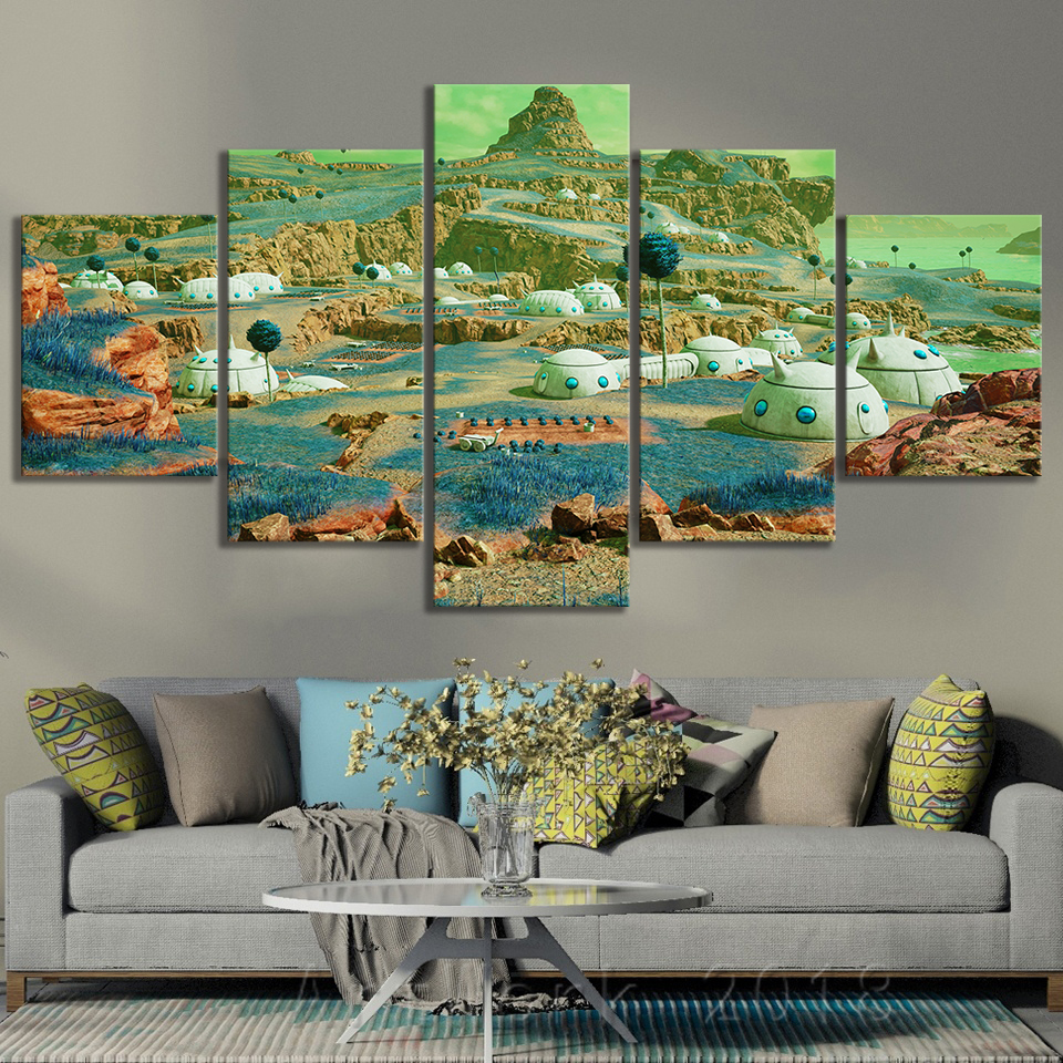Dragon Ball Namek World Game Scene Landscape Frameless Painting JUMP FORCE Video Games Art Canvas Paintings Wall Art Home Decor 2