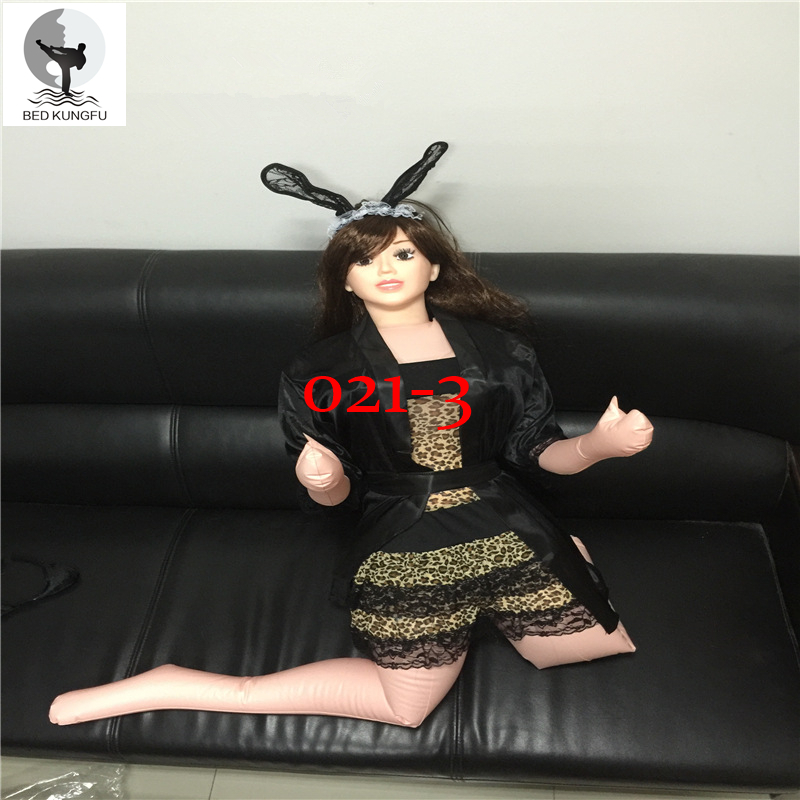 BED KUNGFU 160cm Inflatable Doll PVC Adult Doll Silicone Vagina Anus Smile Face Teeth Sex Doll Male No Fingers No Toes Free Ship