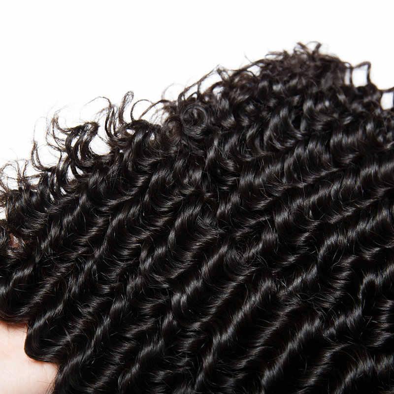 Yavida волосы перуанские вьющиеся волосы пучки перуанский прямые волосы ткань густые вьющиеся волосы натуральный Цвет 100% пряди человеческих волос Необработанные плетенные пряди волос 1/3/4 шт.