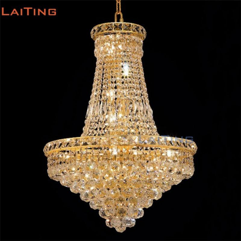 media for education in egypt LAITING Dia 80cm Egypt Gold Crystal Pendants for Chandeliers Lustre De Cristal Illumination Interior Decoration LT-71026B