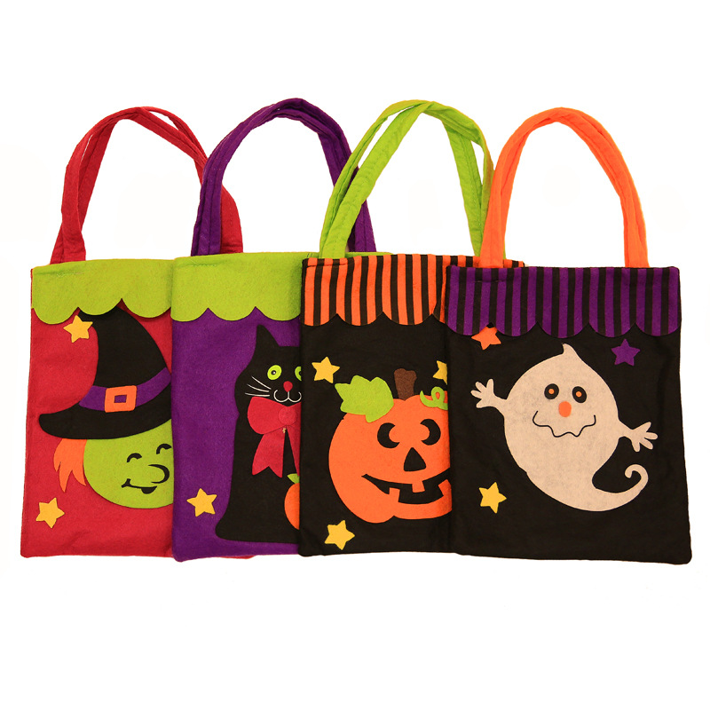 halloween non woven fabrics gift bags halloween decorations candy bags pumpkin head spirit festival event party supplies