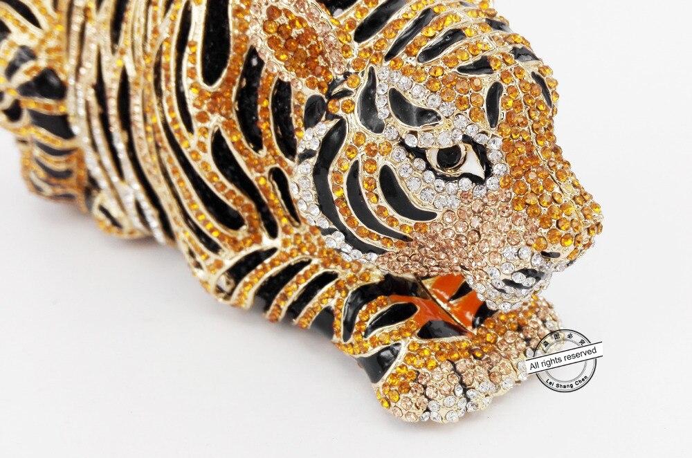 Bolso de noche de cristal de lujo de tigre Animal bolso de fiesta de cóctel de leopardo bolso de mano envío gratis bolsos de embrague de mujer monedero SC030-in Bolso de noche from Maletas y bolsas    3