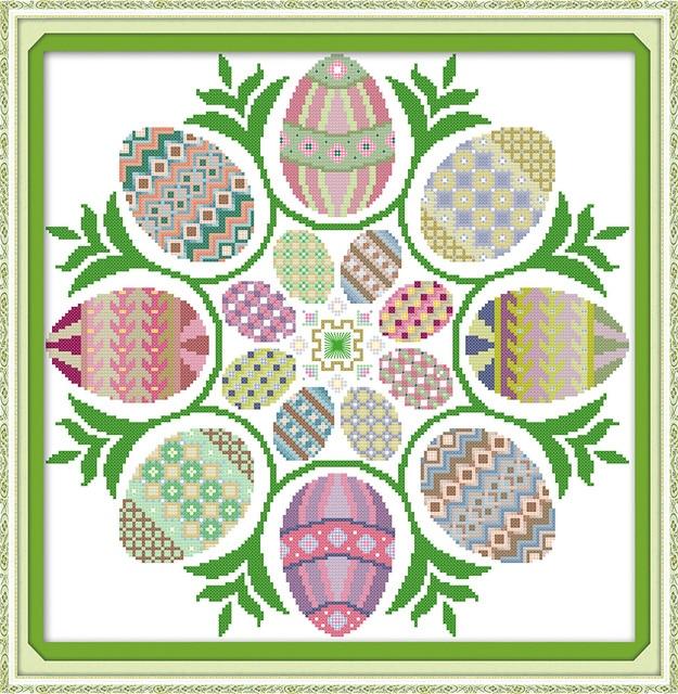 Joy Sunday huevos de Pascua Cruz Adornos cocina DIY Cruz Pegatinas ...