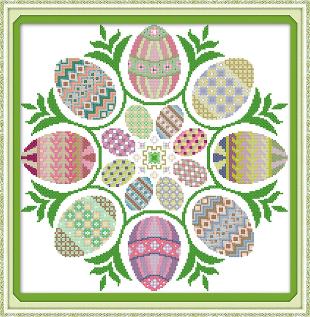 Us 10 2 49 Di Sconto Joy Sunday Uova Di Pasqua Punto Croce Ornamenti Cucina Diy Schemi A Punto Croce Cucito Ricamo Punto Croce Per I Principianti In
