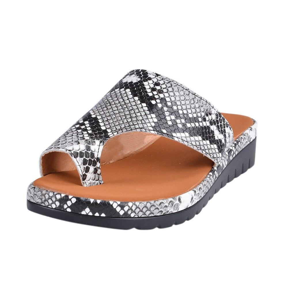 HTB1XV4CXR1D3KVjSZFyq6zuFpXa5 Puimentiua Women slippers Flat Sole Casual Soft Big Toe Foot Sandal Women Shoes Comfy Platform Orthopedic Bunion Corrector