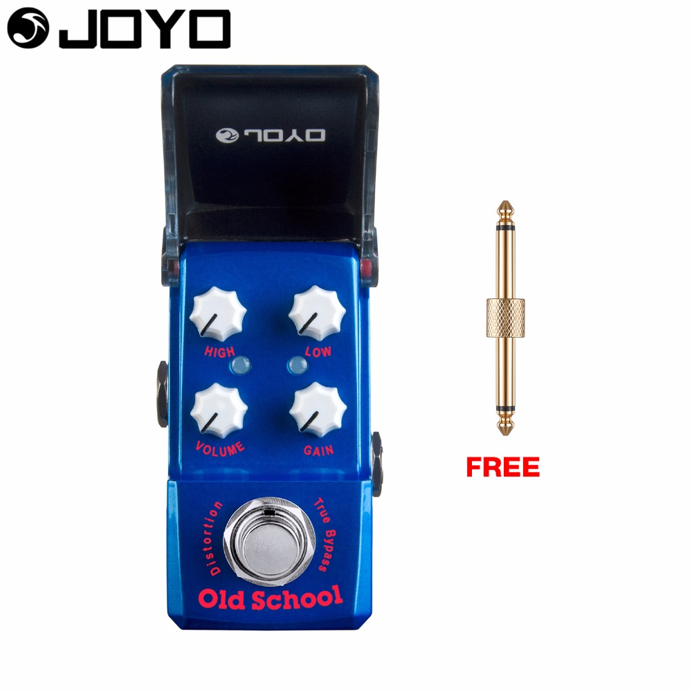 Joyo Old School Distortion Guitar Effect Pedal True Bypass Ironman DPDT switch JF-313 with Free Connector mooer hustle drive distortion guitar effect pedal micro pedal true bypass effects with free connector and footswitch topper