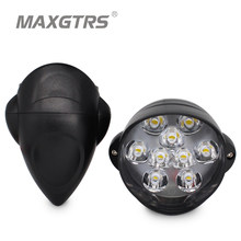 MAXGTRS Motorcycle Car Led Headlight Lamp 15W 1500Lm Scooters Fog Spotlight 6500K White DRL Motorbike Working Spot Light 12V(China)