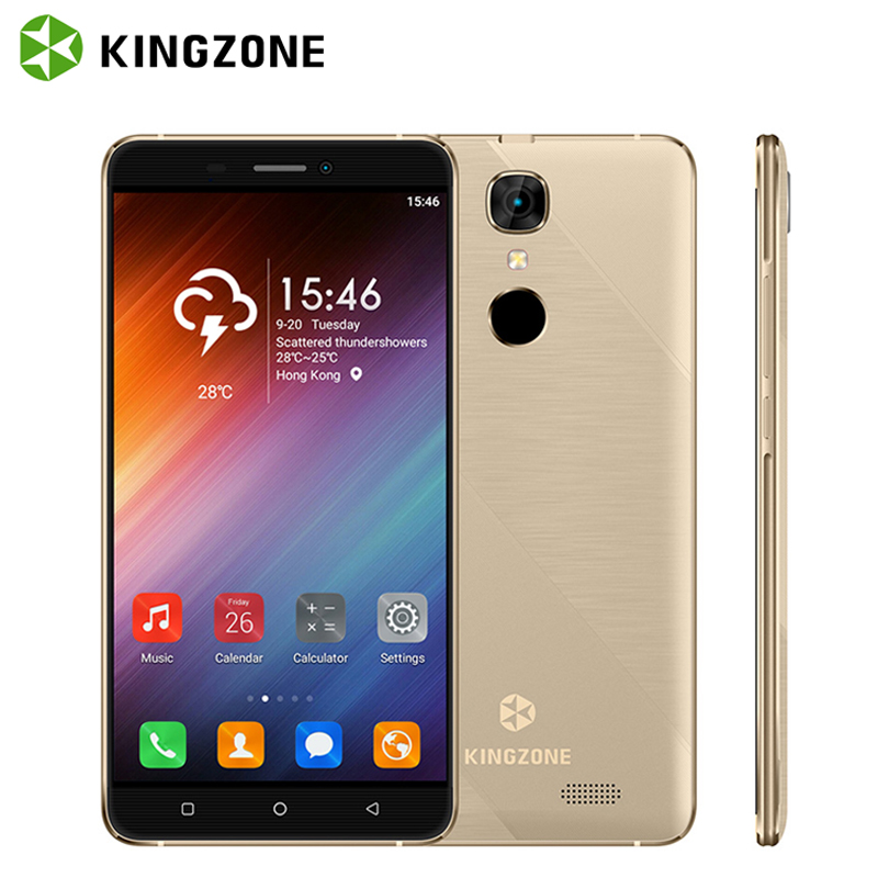 KINGZONE S20 3G 5 5 Inch Smartphone Shockproof Fingerprint Android 6 0 Cell Phone 1GB 8GB