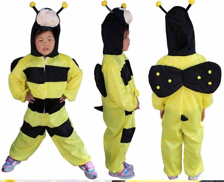 free shipping 3pcslot cosplay children bee honeybee halloween costumemascot - Bee Halloween