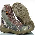 Cuñas de Invierno botas de Los Hombres de camuflaje Táctico Militar Botas de Combate Botas de Nieve Botas de Escalada Al Aire Libre zapatillas deportivas mujer