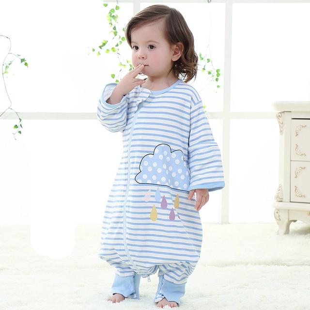 Pure Cotton Baby Sleeping Bag Swaddle Wrap Breathable Children Spring Summer Infant Detachable Sleeve Soft Sleep Sack C01