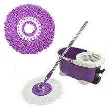 Replacement 360 Rotating Head Easy Microfiber Spinning Floor Mop for Housekeeper Home Cleaning Cloth
