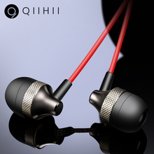 QIIHII Hifi Earphones In Ear Headphones For iphone Samsung Smartphone Sport Noise Canceling Headphone With Microphone