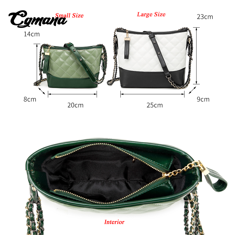 CGmana Women Handbags 2018 High Quality Designer Handbags Brand Luxury Women Crossbody Bags Gilrs Purses Handbags Shoulder Bags in Shoulder Bags from Luggage Bags