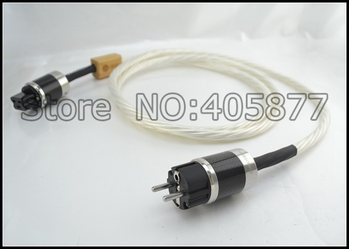 цена на 2M Nordot Odin Supreme Reference EUR Schuko Power Cord With Furutech Carbon fiber 20A Power IEC Connector