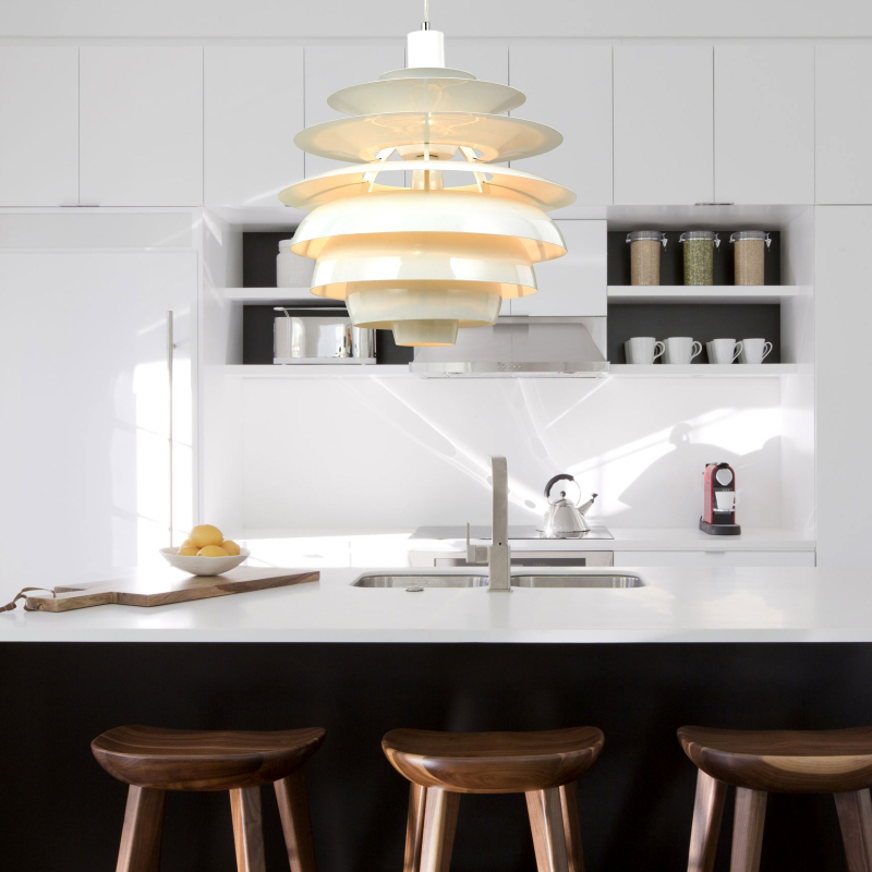 Nordic pendant lamp Pastoral piece of pine nutsr the modern creative personality creative aluminum cone decora pendant light in Pendant Lights from Lights Lighting