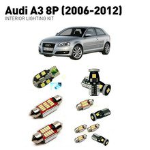 цена на Led interior lights For Audi a3 8p 2006-2012  16pc Led Lights For Cars lighting kit automotive bulbs Canbus