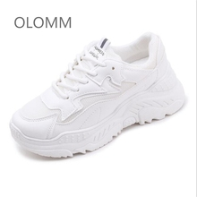 New spring and autumn fashion women's casual leather platform shoes sports shoes women's white sports shoes Chaussure Femme mycolen 2018 spring autumn sports shoes korean leather women s new small white shoes new fashion cowhide shoes women casual