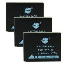 DSTE 3PCS NP W126 np w126 NP W126S np w126s Camera Battery for Fuji HS50 HS35