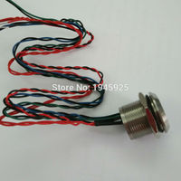 5 pieces 19mm touch sensor piezo button switch with 5V 12V 24V DC red/green/white, red/green/blue three color ring illumination