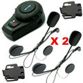 Free Shipping 2 Sets/lot XMotorbike Bluetooth Interphone Headset Helmet Intercom+Free Earpiece+Bracket