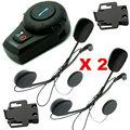 Free Shipping 2 Sets/lot XMotorbike Bluetooth Interphone Headset Helmet Intercom+Free Earpiece+Bracket