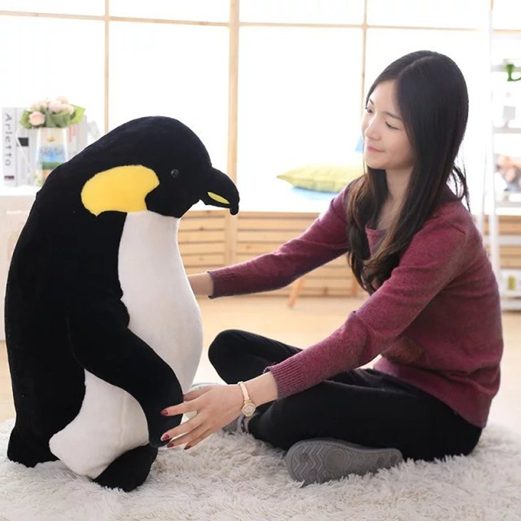 huge plush penguin toy lovely penguin doll gift about 80cm 2654 cowather 2017 new men wallet cow genuine leather for men top quality male purse long carteira masculina free shipping r 8122q