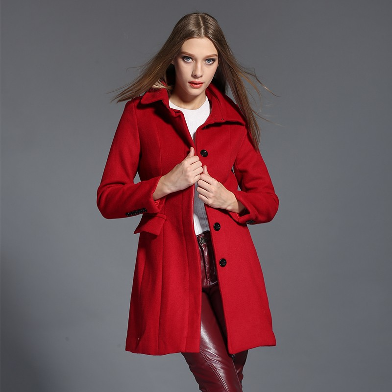 Compare Prices on Red Pea Coats Women- Online Shopping/Buy Low ...