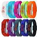 high quality Touch Screen LED Bracelet Digital Watches For Men&Ladies&Child Silicone Band for gifts P042405