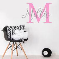 New Hot Custom Name Personalise Kids Baby Girl Bedroom Wall Sticker Nursery Wall Decal Cute Baby