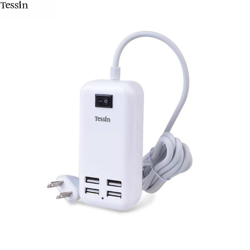 INGMAYA 4 Port USB Charger 15W Power For iPhone 4S 5 5S 5C 6 Plus Samsung Huawei ZTE Lenovo Meizu Mi Mp3 Mp4 PSP DV AC Adapter