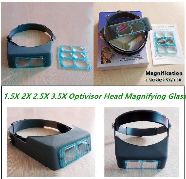 1.5X 2X 2.5X 3.5X Optivisor fejhallgató Órák javító nagyító - Mérőműszerek - Fénykép 4