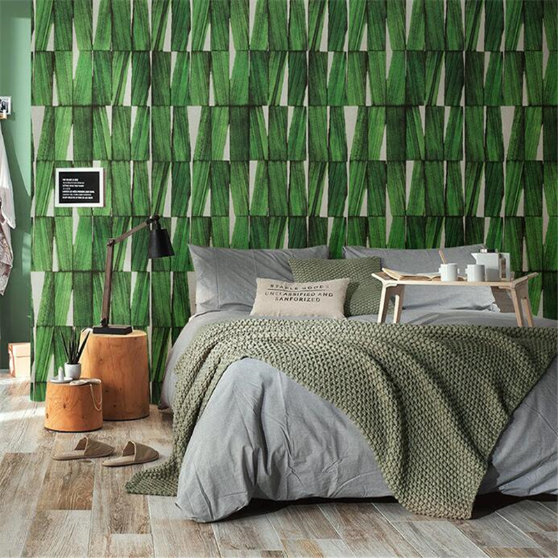 beibehang Southeast Asia minimalist retro nostalgia Nordic wallpaper bedroom living room wall imitation wood wallpaper цена