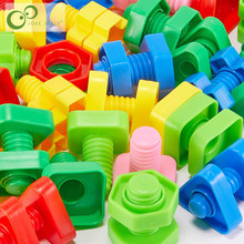 1 Set Screw building blocks plastic insert blocks nut shape toys for children Educational Toys scale models GYH(China)