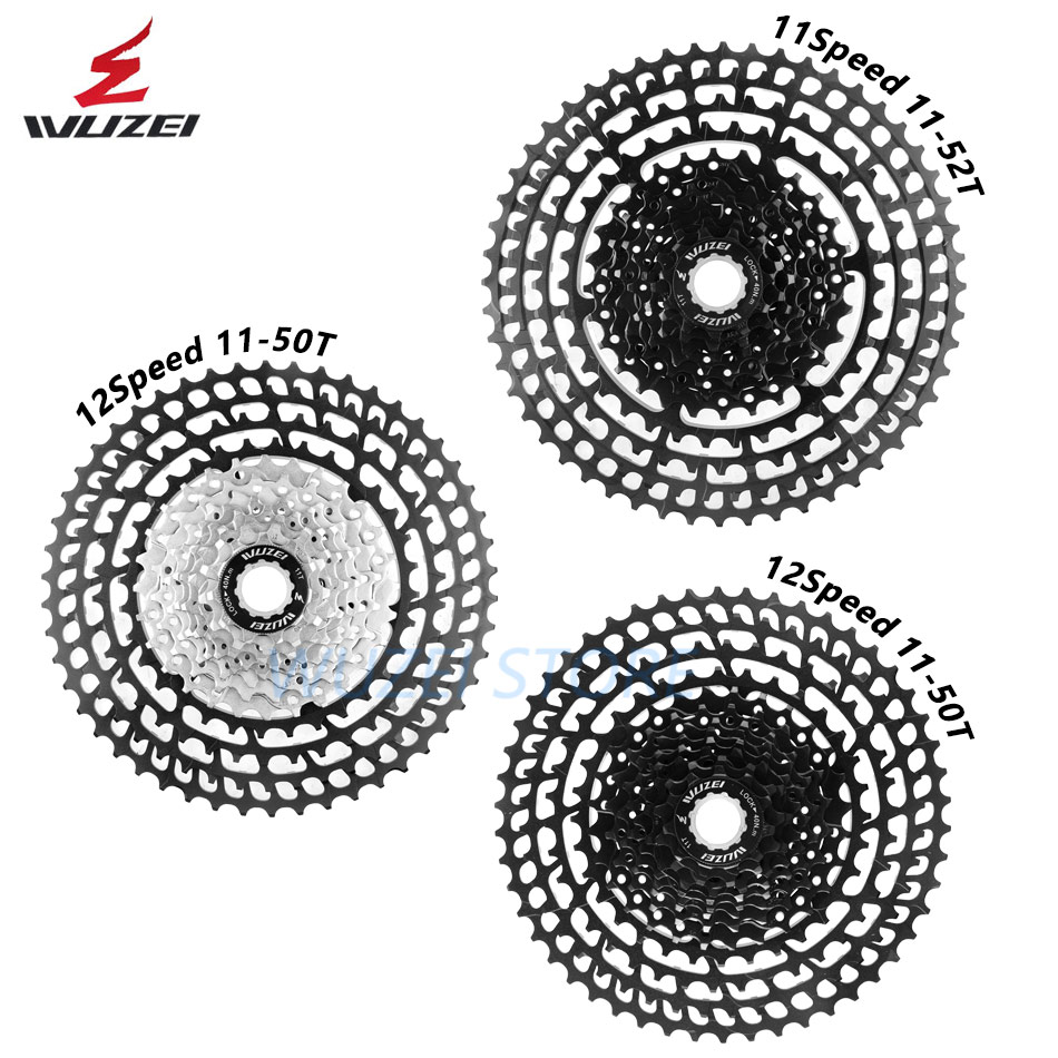WUZEI Cassette Ultralight Freewheel 10/11/12 Speed Aluminum Alloy 11-50T 46T 52T MTB Bike Bicycle flywheel For Shimano GX