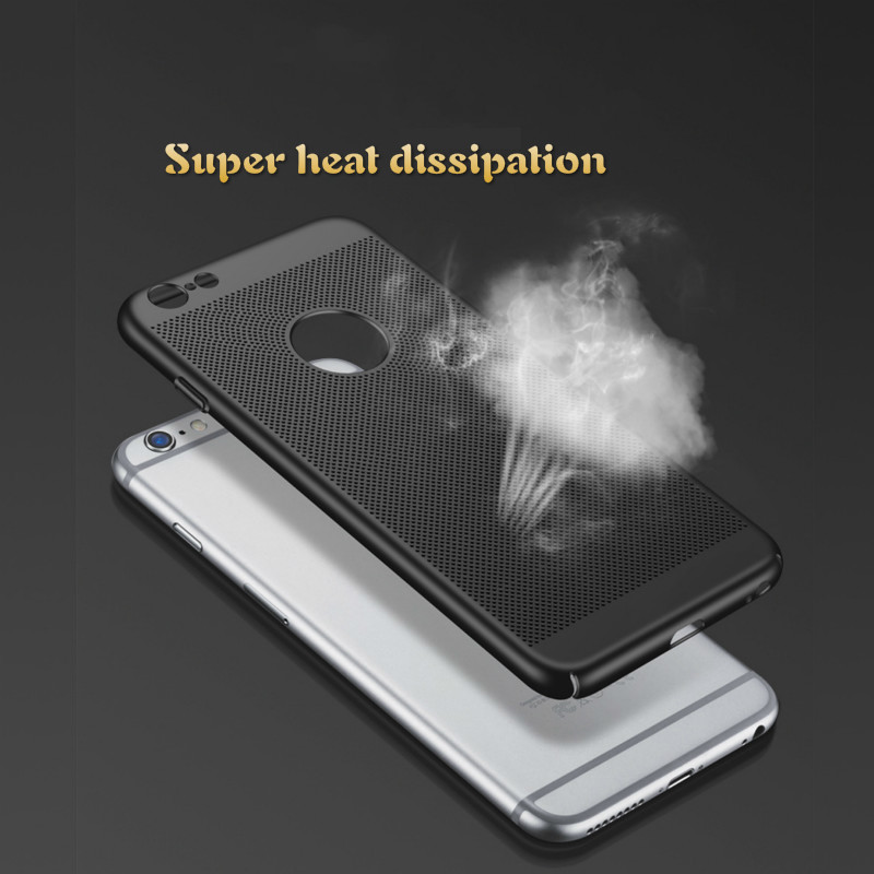 Air Permeable Case For IPhone 5 6 S 7 8 Plus X Matte Shell Heat Dissipation Breathable Abrasive Crust 2
