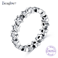 Beagloer New Fashion 925 Sterling Silver Starshine Star Engagement Rings For Women Luxury Original Fine Jewelry