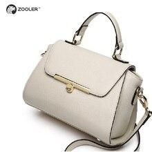 COW leather bags women shoulder bag 2019 genuine leather handbag ZOOLER ladies fashion clutch tote bag -Russia ship-fast #2663