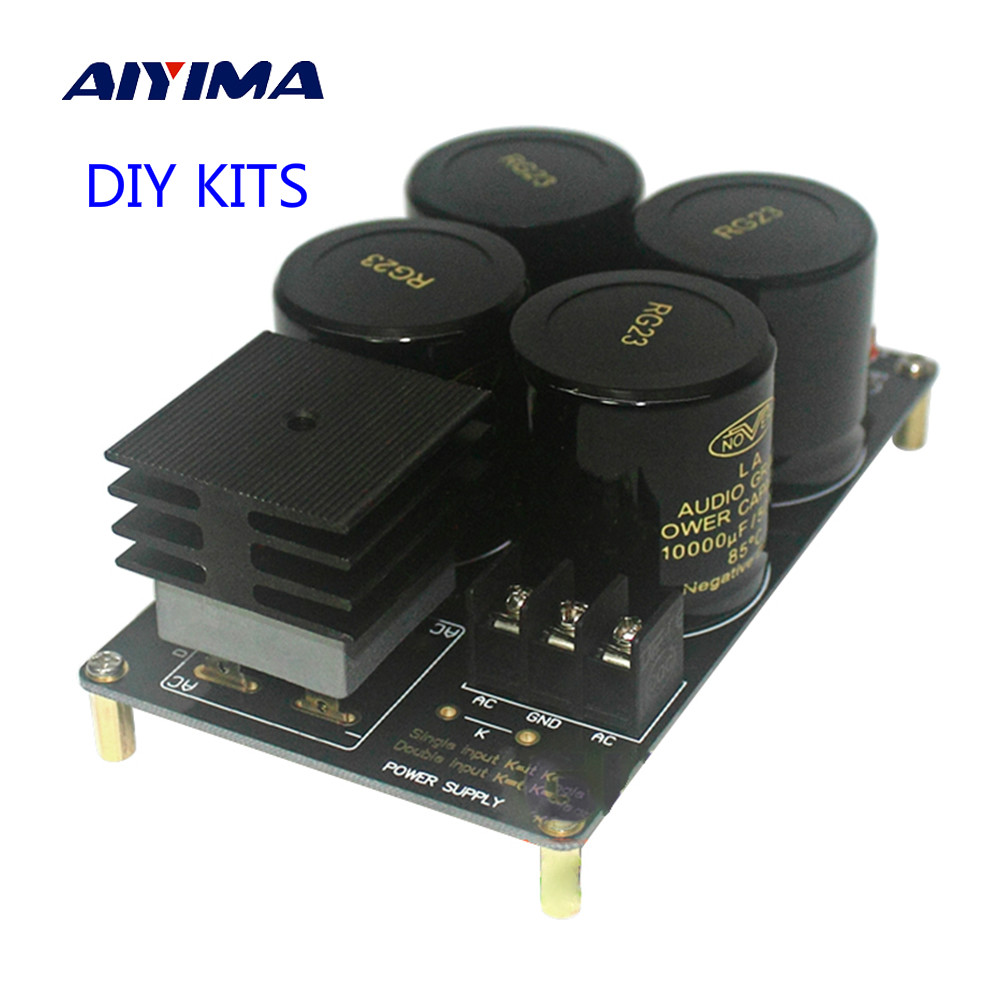 Aiyima 50A Single Power Rectifier Filter Board Diy Kits PCB Board 10000uF/50V Large Current For 1969 Amplifier 12 10000uf 63v rectifier filter power supply board speaker protection for dartzeel amplifier diy kit