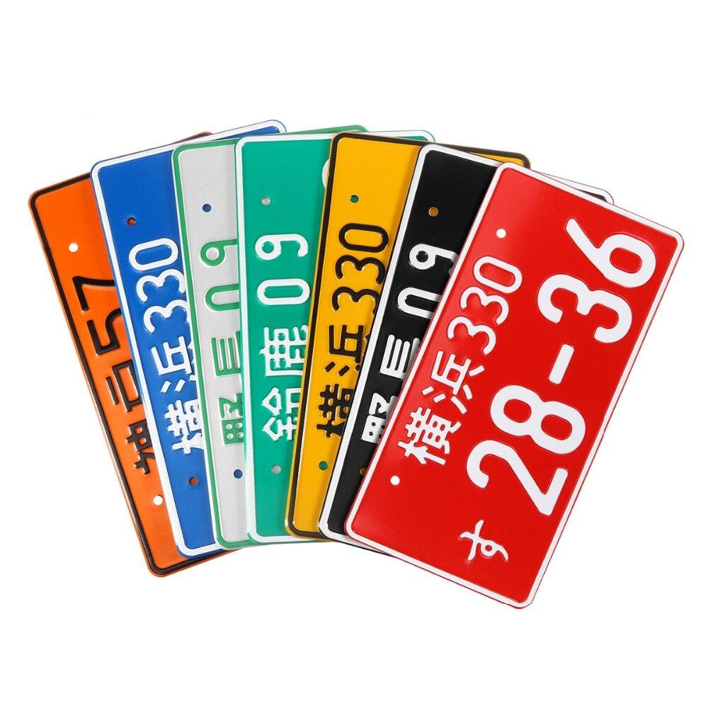 Universal Auto Motorrad Japanischen Lizenz Platte Aluminium Tag Für Jdm Kdm Racing Platten Für VW/Audi Fahrrad Roller