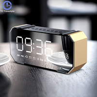 Multi Function Alarm Clock Audio Desktop Despertador Proyector Electronic LED Reloj Digital Benfica Table Talking Grabber
