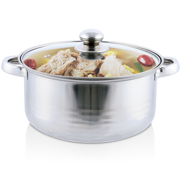 2017 Rushed Promotion Food Steamer Steamer Pot 20cm Stainless Steel Soup Pot Ears With Visual Cover Kitchen Tools Appliances