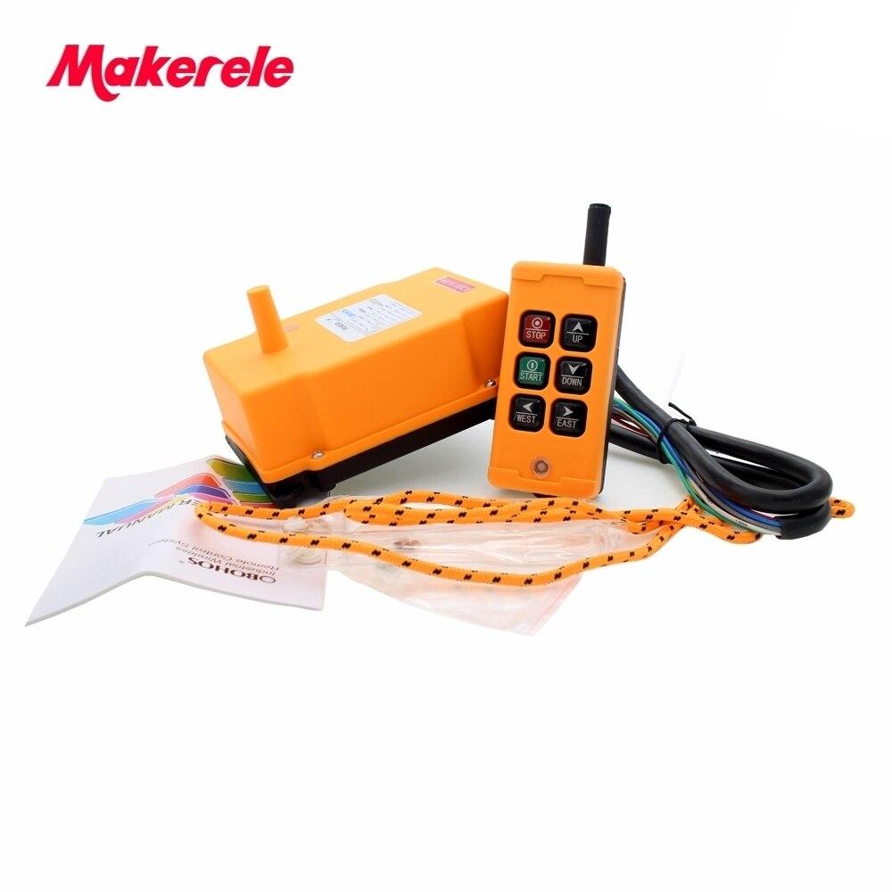 MKHS-6 PA66 422.4-438 MHz émetteur sans fil bouton poussoir grue télécommande industrielle de makerele Chine