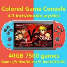 Крутая цветная игровая консоль 43 дюйма 40 ГБ Встроенная 7500