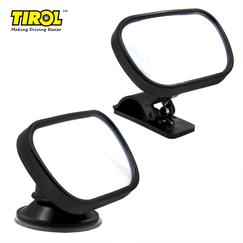Tirol T22614d Mini Car Baby View Mirror 2 IN 1 / Car Rear Baby Safety Convex Mirror for Car Adjustable Baby Mirror